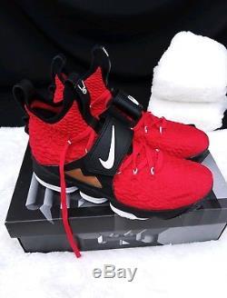 10 MEN'S Nike Lebron 15 XV Prime Diamond Turf Deon Sanders Red Gold AO9144 600