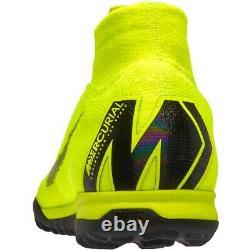 $175 Nike Mercurial Superfly VI 6 Elite TF Turf Soccer Shoes Sz 10 Volt-Black