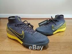 $175 Nike Superfly 6 Elite TF Turf Soccer Shoes AH7374-070 Mercurial Grey Volt