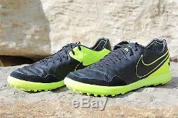 17 New Nike TiempoX Proximo TF Turf Soccer Shoes Black/Volt 8.5-10.5 843962 070