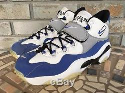 2006 Nike Zoom Turf Training Mens Sz 9.5 315099 141 White Royal Barry Sanders