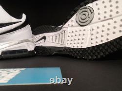 2008 Nike Air Super Speed Football Gridiron Turf Shoe White Black Silver New 11