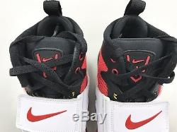 2014 DS Nike Air Diamon Turf VI Deion Sanders Sz 9 Men Shoes Red White Black