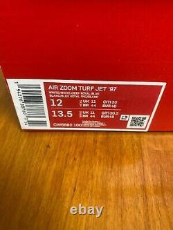 2019 Nike Barry Sanders Air Zoom Turf Jet 97 20th Anniv Shoe Sz 12 Detroit Lions