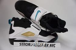 (309434-013) Men's Nike Air Diamond Turf Black/deep Emerald/white