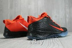 51 Nike Zoom Force Trout 5 Baseball Turf Shoes Black Orange BQ5556-800 Mens 9.5