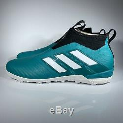 ACE TANGO 17+ PURE CONTROL ADIDAS MEN'S SOCCER SHOES BY1943 BLUE TURF TF Sz 8.5
