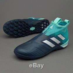 ACE TANGO 17+ PURE CONTROL ADIDAS MEN'S SOCCER SHOES BY1943 BLUE TURF TF Sz 9.5
