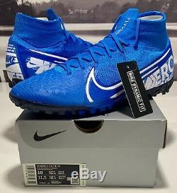 AT7981-414 Nike Mercurial Superfly 7 Elite TF Turf Soccer Shoes Men's Size 10
