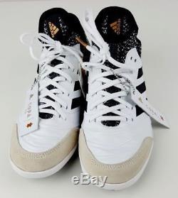 Adidas Copa Tango 18.1 TF Turf Soccer Shoes White Black Gold SZ 8.5 (CM7665)