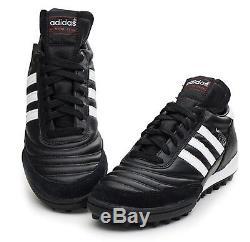 Adidas Men Mundial Team TURF Cleats Futsal Black White Shoes Soccer Spike 019228