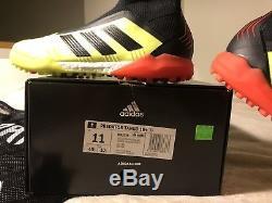 Adidas Mens Predator Tango 18+ TF Turf Soccer Shoes Cleats Solar Yellow Size 11