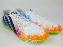 Adidas Mens Rare ff x-ite (messi) D67200 White Blue Turf Soccer Shoes Size 10.5