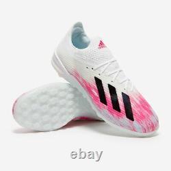 Adidas Mens X 19.1 Tf Soccer Shoes Eg7135 White Shock Pink Turf Size 11 Rare