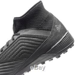 Adidas Predator 18.3 Tango TF Turf 2018 Soccer Shoes New Blackout Pure Black