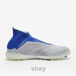 Adidas Predator 19+ Tf Soccer Shoes Bc0554 (blue Gray Ag Turf) Size Men's 12