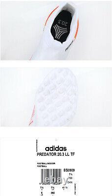 Adidas Predator 20.3 LL TF Turf Football Shoes Soccer Cleats White EG0909