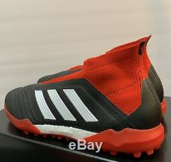 Adidas Predator Tango 18+ TF Men's Size 11 Turf Soccer Shoes DB2058 Red Black