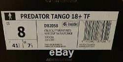 Adidas Predator Tango 18+ TF Men's Size 8 Turf Soccer Shoes DB2058 Red Black