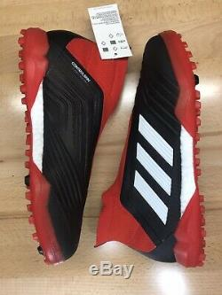 Adidas Predator Tango 18+ TF Turf Soccer Shoe Cleats Black Red Mens Size 10