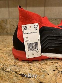 Adidas Predator Tango 18+ TF Turf Soccer Shoes Red/Black (DB2058) boost size 9.5