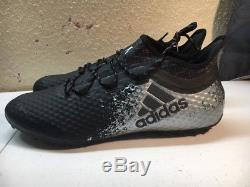 Adidas X 16.1 Cage Soccer Turf Shoes S31918 Black Silver Men's US Size 12