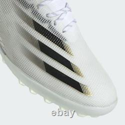 Adidas X Ghosted. 1 Tf Mens Turf Soccer Shoes Cloud white/Metallic Gold EG8173