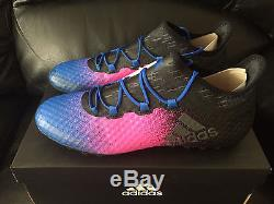 Adidas X Tango 16.1 TF Turf Soccer Shoes, Pink/Black/Blue, Size 10.5 BA9468