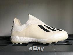 Adidas X Tango 18+ TF Turf Soccer Shoes Black White Sz 8.5 DB2270