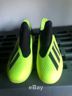 Adidas X Tango 18+ TF Turf Soccer Shoes Yellow Black White Sz 9.5 DB2269