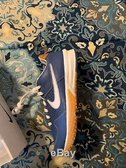 Basebalism Alpha Huarache Flag Man Turf 2 Blue Size 9.5. Baseball Turf Shoes