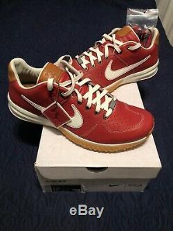 Baseballism Nike Alpha Huarache 2 Flagman turf shoe Size 12.5 RED