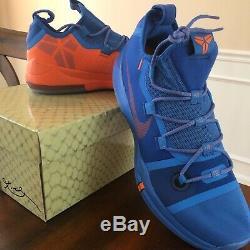 Brand new in box Nike Mens Kobe AD Pacific Blue/Turf Orange-Black size 13 US
