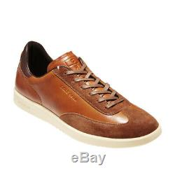 COLE HAAN Mens Grandpro Turf Sneaker British Tan Leather/Suede Shoes C29166