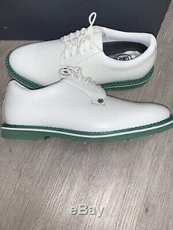 GFORE MEN'S COLLECTION GALLIVANTER SIZE 8.5 White/ Turf Green Golf