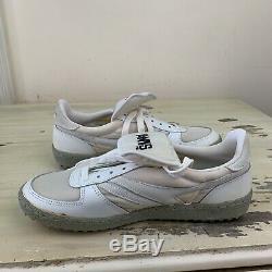 HAWKS Vtg 1980s White Baseball Coach Studded Turf Cleats Shoes, Mens 10
