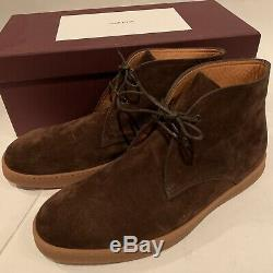 JOHN LOBB Brown Suede Turf Chukka Ankle Boots Casual Shoes Size 8 NEW $990