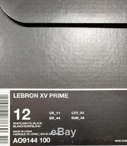 LeBron XV 15 Prime Diamond Turf watch men's size 12 (AO9144-100) New