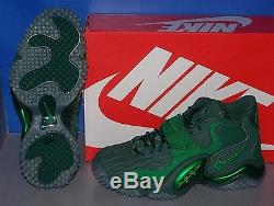 MENS NIKE AIR ZOOM TURF JET'97 NFL in colors GREEN / GREEN / PINE SIZE 9