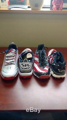 Men's Boombah Turf Shoes sz 10 USA 2 Pairs