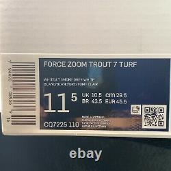 Men's NIKE AIR FORCE ZOOM TROUT 7 TURF Training Shoe -Size 11.5 #CQ7225-110 NIB