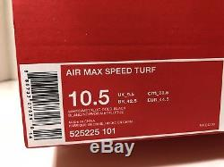 Men's Nike Air Max Speed Turf 49ers White Gold Black Red 525225-101 Size 10.5