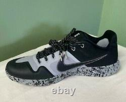 Men's Nike Alpha Huarache Elite 2 Turf Baseball Shoes Black AV2472-001 Size 11