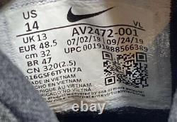 Men's Nike Alpha Huarache Elite 2 Turf Baseball Shoes Black AV2472-001 Size 14