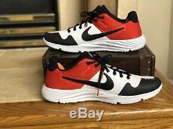 Men's Nike Alpha Hurache Elite 2 Baseball Turf Shoes AJ6877-106 Size 10.5 44.5