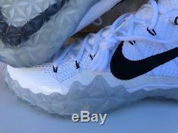 Men's Nike Alpha Sensory Turf Football Shoes White Black Size 10-12 854312 101