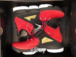 Men's Nike LeBron XV 15 Red Diamond Turf White (AO9144-600) Size 11 DS Supreme