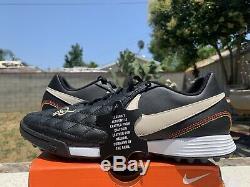 Mens 9 Nike Tiempo Ronaldinho 10R Legend X 7 Academy Turf Soccer Leather Shoes