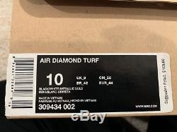 Mens Nike Air Diamond Turf Trainer 2010 Basketball shoes size 10 US 316408-003