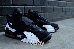 Mens Nike Air Speed Turf Sneakers New Deion Sanders Black White 525225-011 sz 9